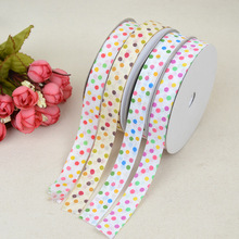 Ribbon Colored Polka Dot Ribbed Pastry Gift Box Packaging Headdress Bow Garment Accessories Material Decoration