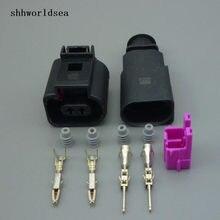 Shhworld 1 комплект, 2-контактный 1,5 мм 1J0973802/1J0973702 датчик температуры автомобиля, пробка заглушки клапана, водонепроницаемый разъем для VW и т. Д.
