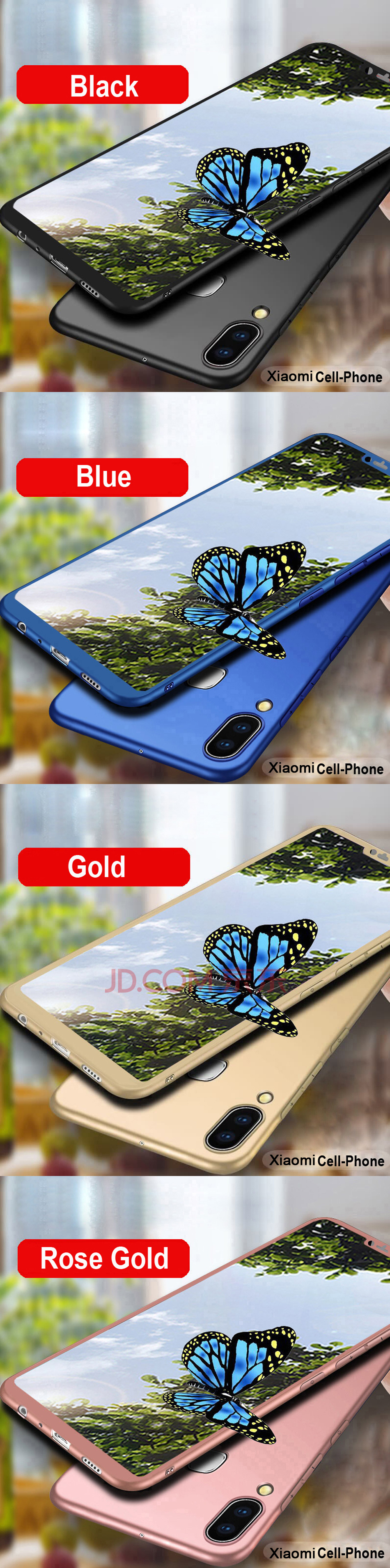 360 Degree Full Cover Case for Xiaomi Mi8 Pro Mi 8 lite Case Matte Cover for Xiaomi Mi 9 Mi A2 lite A1 Shell Glass Coque (10)