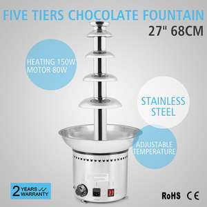 5-Tier Chocolate Fountain 68CM Chocolate Fountain 27 inch Chocolate Fountain Machine