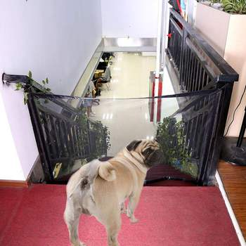 Dog Gate The Ingenious Mesh Magic Pet Gate For Dogs Safe Guard and Install Pet Dog Safety Enclosure Dog Fences Drop Shipping