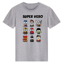 [XHTWCY] Super Hero T-Shirt Marvel DC Comic Superman Batman Captain America Spiderman Hulk Thor Movie Tshirt Geek Tee