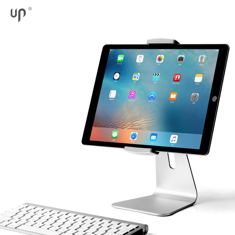 UP 4P-7S aluminium tablet stand for tablet with clamp for 7inch to13inch device,universal flexible brand pad holder