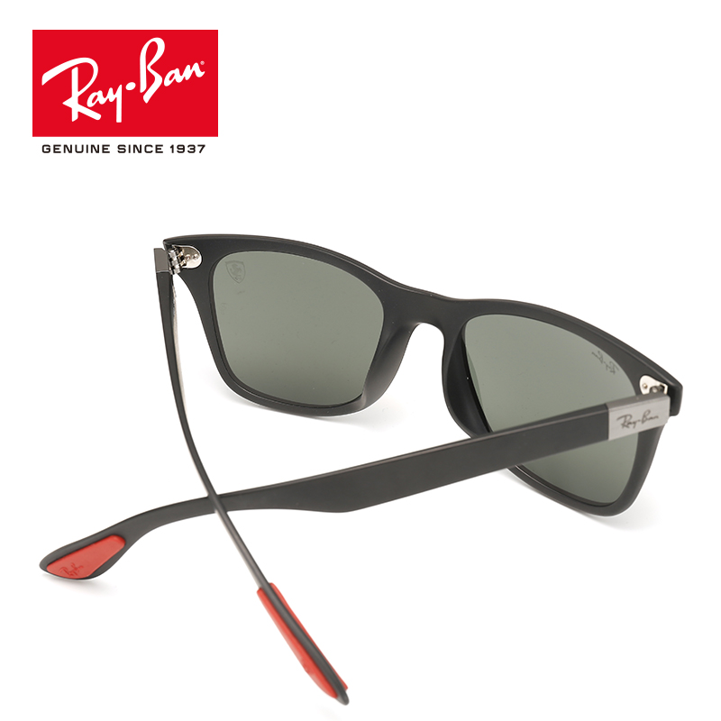 989127cc49 ... new arrivals rayban mens wayfarer liteforce polarized square sunglasses  rb4195mf f602 h2 in hiking eyewears from