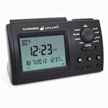 Azan muçulmano relógio de mesa 3006 azan relógio de oração alcorão muçulmano com tela grande lcd com dc jack relógio árabe