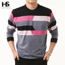 HS Hohe Qualität Neue Herbst Winter Kleid Striped Cashmere Wolle Pullover Männer Pullover Marke Casual Shirts Oansatz Kleidung S-XXXXL