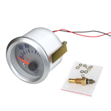 Water Temperature Meter Gauge with Sensor for Auto Car 2″ 52mm 40~120Celsius Degree Blue Light