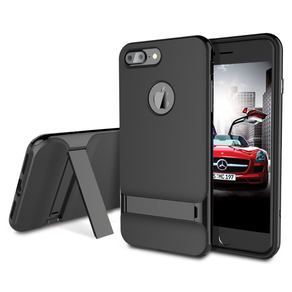 ROCK Royce Kickstand Case for Apple iPhone 7 Plus Phone bag cover Sleek Stand Cover for