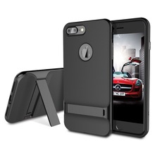 ROCK Royce Kickstand Case for Apple iPhone 7 Plus Phone bag cover Sleek Stand Cover for iPhone 7 Jet Black For iphone 7plus