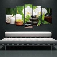 بدون إطار قماش اللوحة زخرفة المنزل غرفة المعيشة جدار الصور الصورة الربيع حجر الخيزران صورة زهرة وحدات
