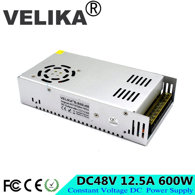 Small Volume Single Output 600W 48V 12.5A Switching Power Supply ...