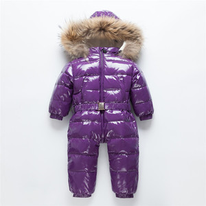 Image 5 -  30 Russian Winter Snowsuit Toddler Boys Girls 90% Duck Down Rompers Overalls Kids Jumpsuit For Infant Baby 1 6 Y Clj311