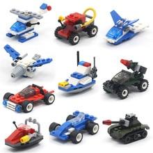 MEOA Mini Military Armored Car Helicopter Assault Boat Airplane Tank Set Building Blocks Educational Bricks Boys Toys Juguete