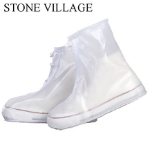 Boot-Cover Shoes Waterproof Protector Rain Anti-Slip Reusable Unisex High-Top