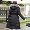 Winter Thick Warm Down Jacket Women True Raccoon Fashion Long Coat Duck Down Removable Hood Outerwear Slim Jacket  Women WY037