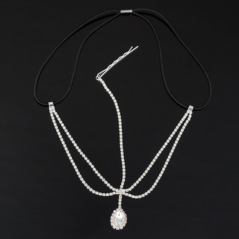 Étoile à cinq branches Tête Chaîne naturelle pierre de lune Cheveux Chaîne Cheveux Accessoires