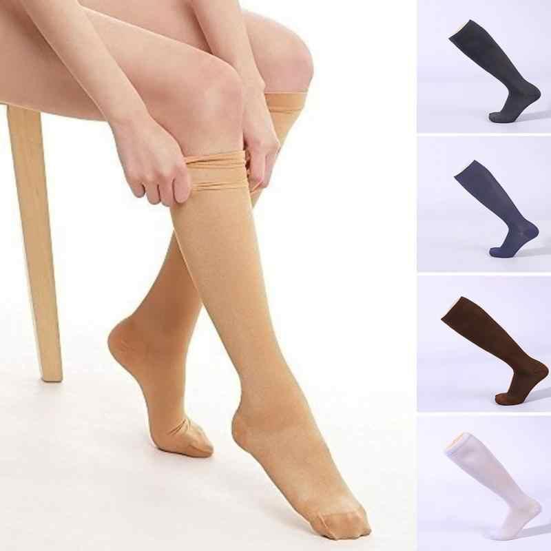 Hot Unisex Kompression Strümpfe Druck Nylon Krampfadern Strumpf knie hohe Bein Unterstützung Stretch Druck Durchblutung Lager