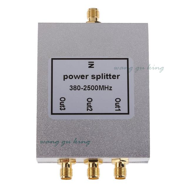 380 ~ 2500 MHz 3-way SMA Power Divisor/Splitter Para GSM & CDMA & DCS Sinal De Reforço de Sinal De Reforço repetidor dropshipping