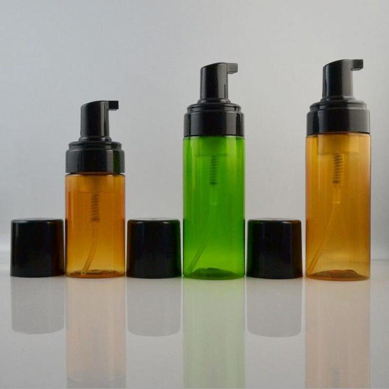 high quality 100ml 150ml amber /green bottles of bubble foam Superior mousse bottle whipped foam pump bottle F20171688