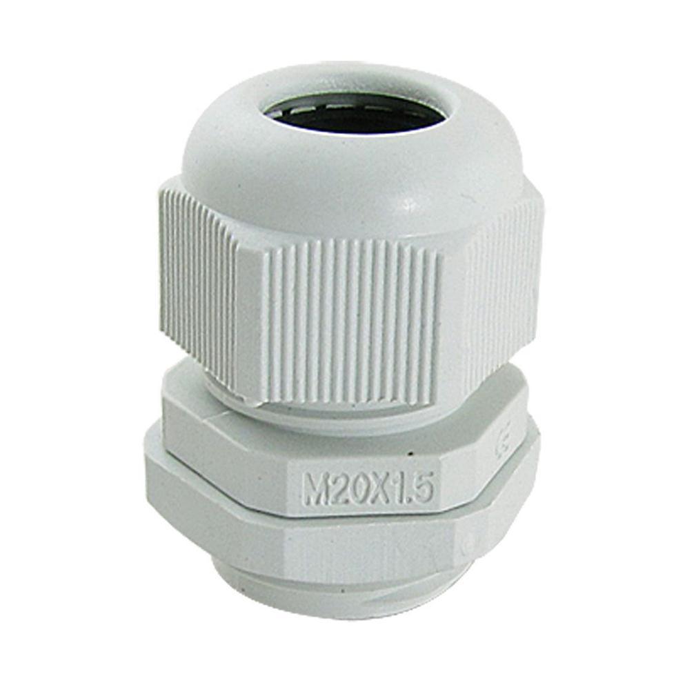 Горячая 10 шт белые пластиковые Водонепроницаемые кабельные сальники M20 x 1,5