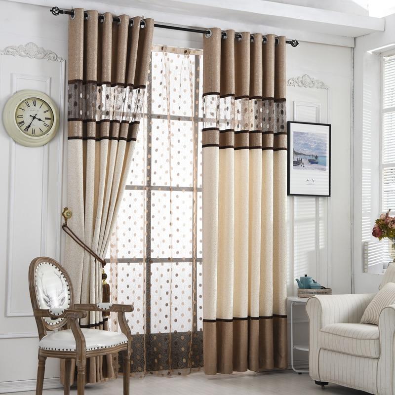 kopen goedkoop byetee hoge kwaliteit luxe gordijn voor slaapkamer keuken gordijnen woonkamer moderne cortinas stof venster string gordijnen online