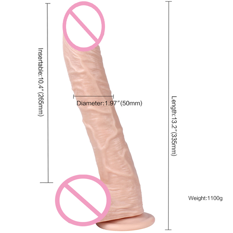 XING SE 13.2 inch Huge Horse Realistic Dildo Suction Cup Sex toys for Women Curved Penis Silicone Big dildo Adults Sex product big dildo realistic penis with suction cup silicone thick dildos huge horse dildo sex toys for women long penis sex product