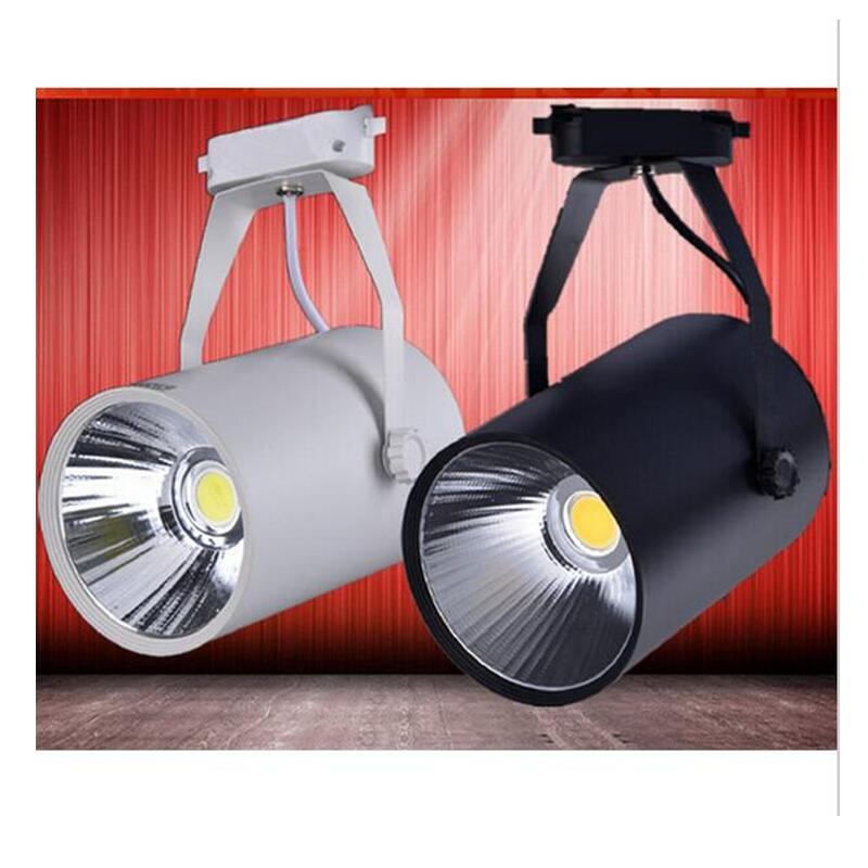 Ceiling Lights & Fans Led Track Light 7w 10w 15w Cob Rail Lights Spotlight Equal 150w Halogen Lamp 110v 120v 220v 230v 240v Warm Cold Natural White