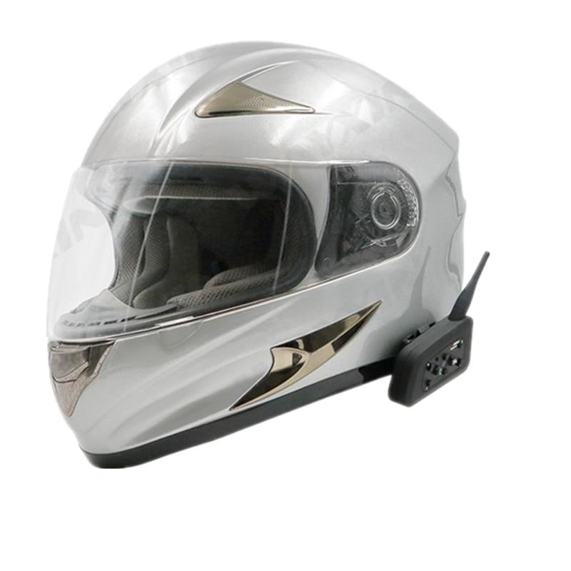 6 Riders New Bluetooth Intercom Motorcycle Helmet Accessories Speaker 1200m Interphone Headset Support BT Wireless Mp3 Music GPS