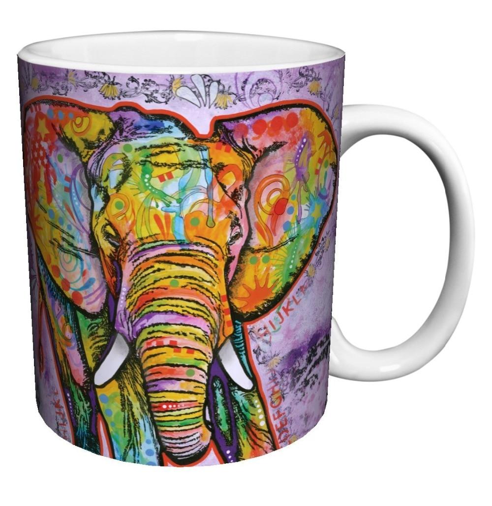 Elephant Modern Animal coffee mugs Black cold hot changing color Heat Reactive Tea mugen white mug