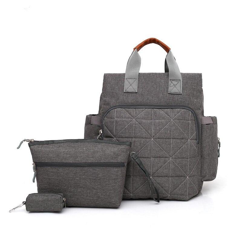 3pcs/set Baby Diaper Bag Suits For Mom Mother Mummy Maternity Bag Fashion Zipper Nappy Bags Set for Stroller Coin Pocket Handbag недорго, оригинальная цена