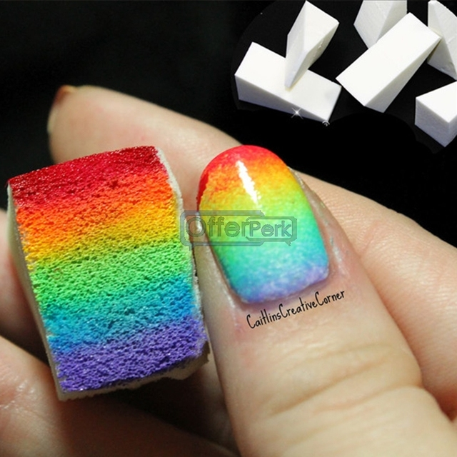 Colorful beauty products styling tools Sponge Creative Nail Polish ...