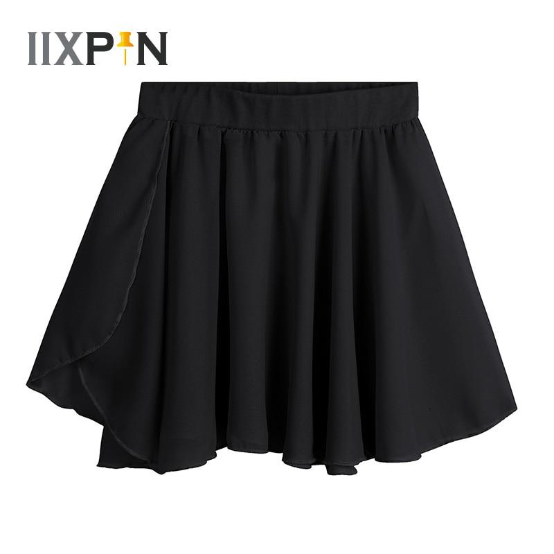 Kids Girls Ballet Skirt Dance Costumes Gymnastics Leotard For Girls Basic Classic Chiffon Mini Pull-On Wrap Skirt Ballet Dress