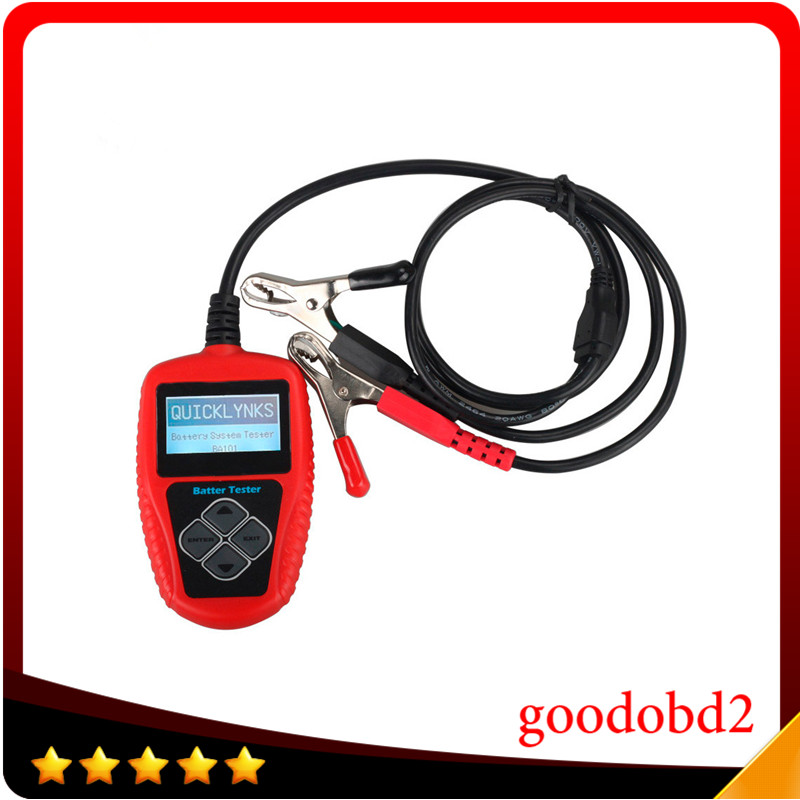New Arrival QUICKLYNKS BA101 Automotive 12V Vehicle Battery Tester Scanner  Battery Analyzer  (100~2000 CCA) JIS, EN, DIN, SAE  em281 mini 12v 24v automotive battery tester lcd bar indication battery load tester electrical all sun em281 battery analyzer