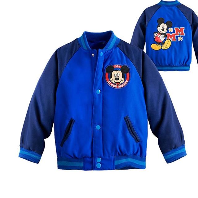 Captain America Jacket for Boys Minnie Mickey Baby Outwear Autumn Winter Cartoon Sport Coat Girls Baseball Jacket Kid Tracksuit