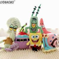 Hot Sale SpongeBob plush toys SpongeBob/Patrick Star/Squidward Tentacles/Eugene/Sheldon/Gary soft stuffed doll Baby lovely toy