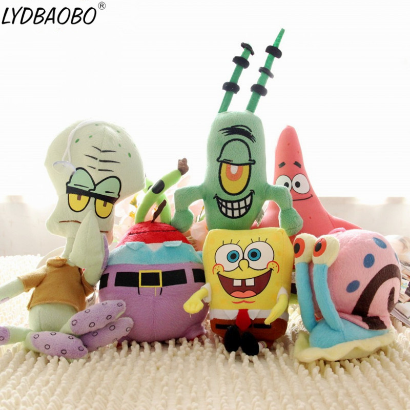 Hot Sale SpongeBob Plush Toys SpongeBob/Patrick Star/Squidward Tentacles/Eugene/Sheldon/Gary Soft Stuffed Doll Baby Lovely Toy
