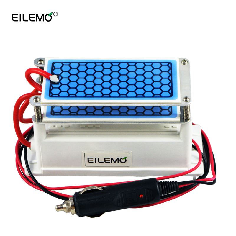 EILEMO Car Air Purifier Ozone Generator 12v 10g Ozonizer Fresh Air Cleaner Car Portable Ozonator 12v цена и фото