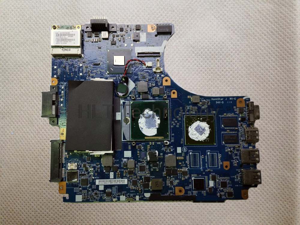 HOLYTIME MBX-240 Laptop Motherboard For Sony Vaio V050 MBX-240 1P-0112500-8014 with non-integrated graphics card 100% Test ok