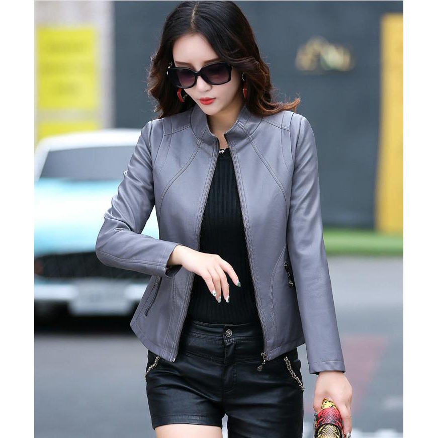 M-5XL Plus Size Washed PU Faux   Leather   Jackets Women OL Elegant Classical   Suede   Jacket Giacca Donna Coats Blouson Femme Veste