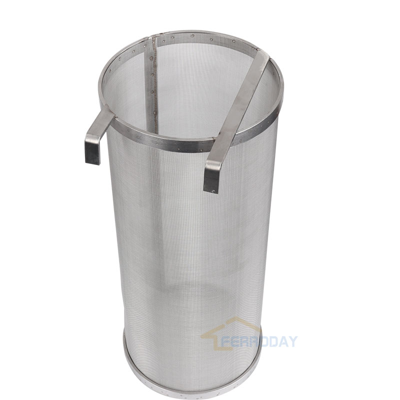 304 Stainless Steel Hop Spider Strainer Homebrew Beer Pellet Hop Filter 400 Micron Filtering for Brew