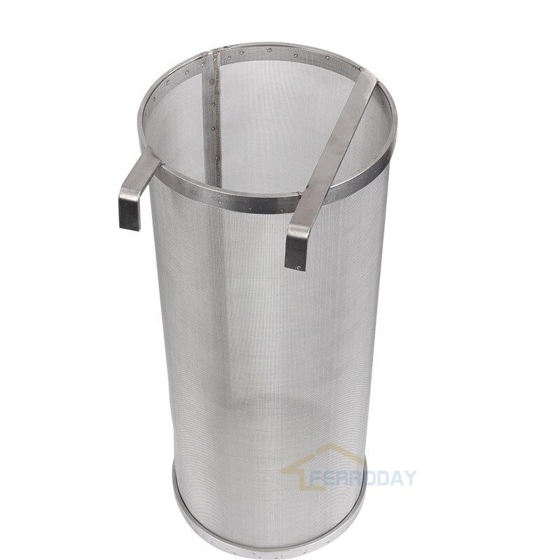 """Ev ve Bahçe'ten Bira Maya'de 304 Paslanmaz Çelik Hop Örümcek Süzgeç Homebrew Bira Pelet hizmet filtresi 400 Mikron Filtreleme Brew Demlemek için 155x355mm /6.1*14""""'da  Grup 1"""