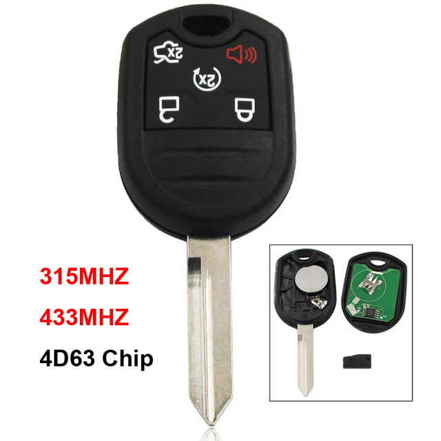5 Button Smart Remote Car Key 315 433mhz For Ford Mustang Exploror
