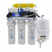 6 Stage Deionization Reverse Osmosis Drinking Water Filtration System 50 GPD RO Membrane Ion Exchange Resin