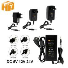 DC 5V 12V 24V aydınlatma Transformers 1A / 2A / 3A / 5A / 6A / 8A / 10A güç kaynağı adaptörü LED şerit için