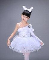 5d7d341ee9 2017 New Children Swan Lake Ballet Costume Girl White Ballet Dress Dancewear  Kids Ballet Outfit