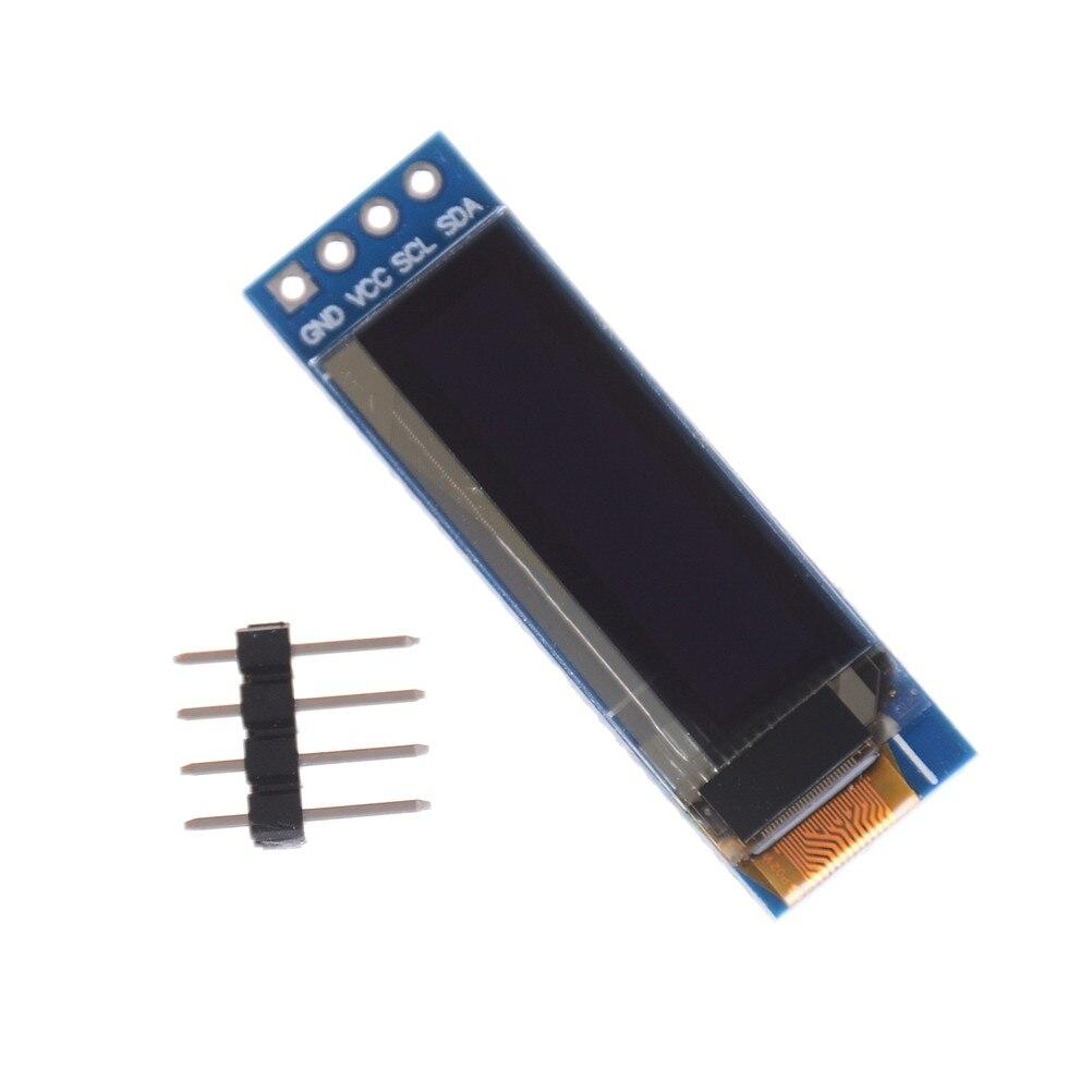 0,91 Zoll 128x32 Iic I2c Weiß/blau Oled Lcd Display Ic Dc 3,3 V 5 V Für Arduino 1 Stücke Diy Modul Ssd1306 Fahrer