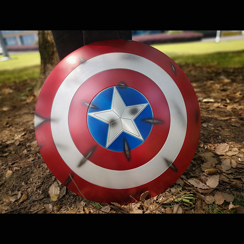Aviation aluminum alloy Captain America Shield Thor's Hammer Cosplay 1:1 Avengers Weapon Replica Including Stand image