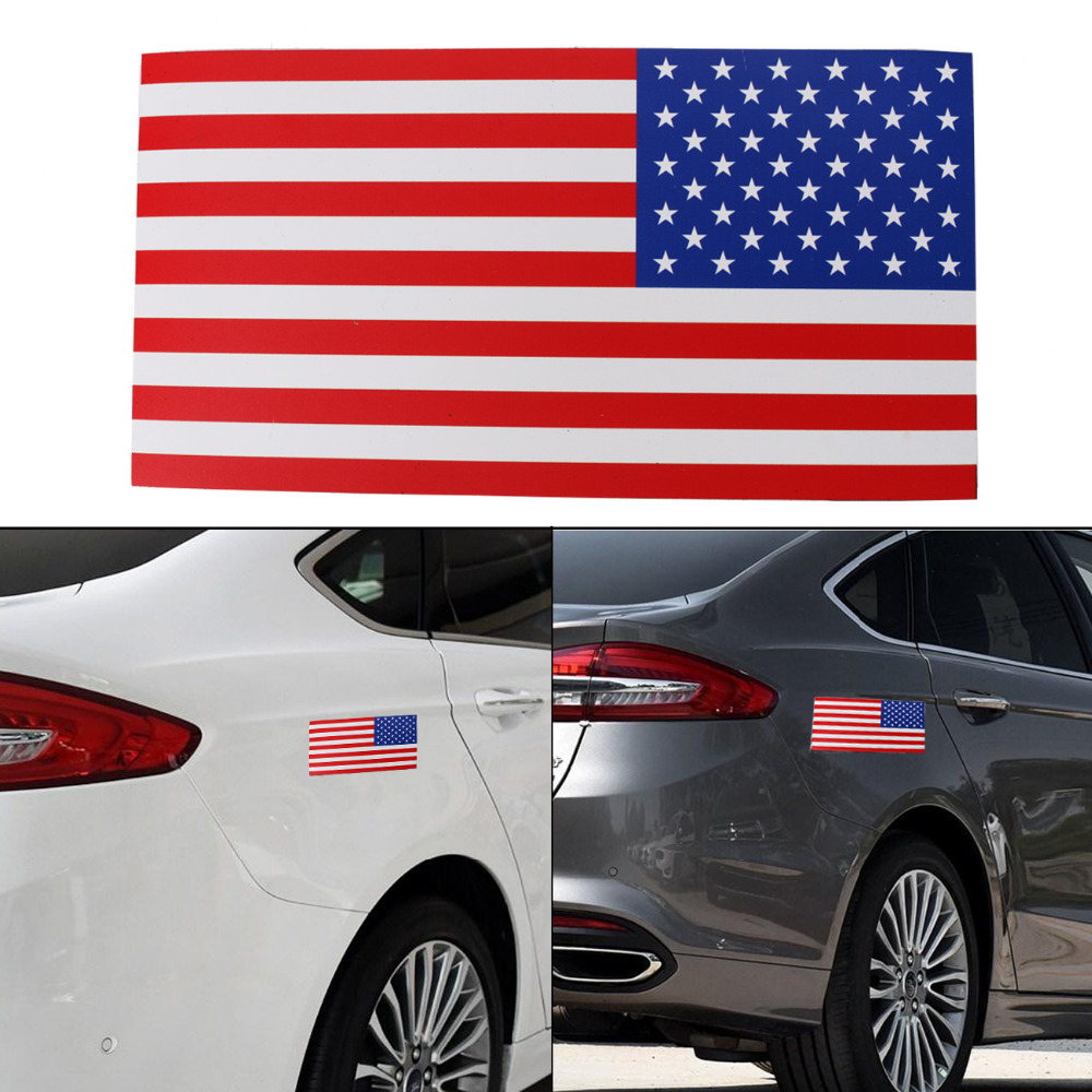 1PC 7.5x4 Removable Magnetic Signs United State Flag American Flag Auto Body Decal Outdoor Car Stickers on Right #SGB-10-1-TR