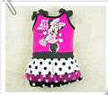 2015 New Summer Girls Dress Tutu Princess sleeveless Mouse Dress Dot Baby Casual Paty Dress for 2-5Years Kid Dress robe catimini