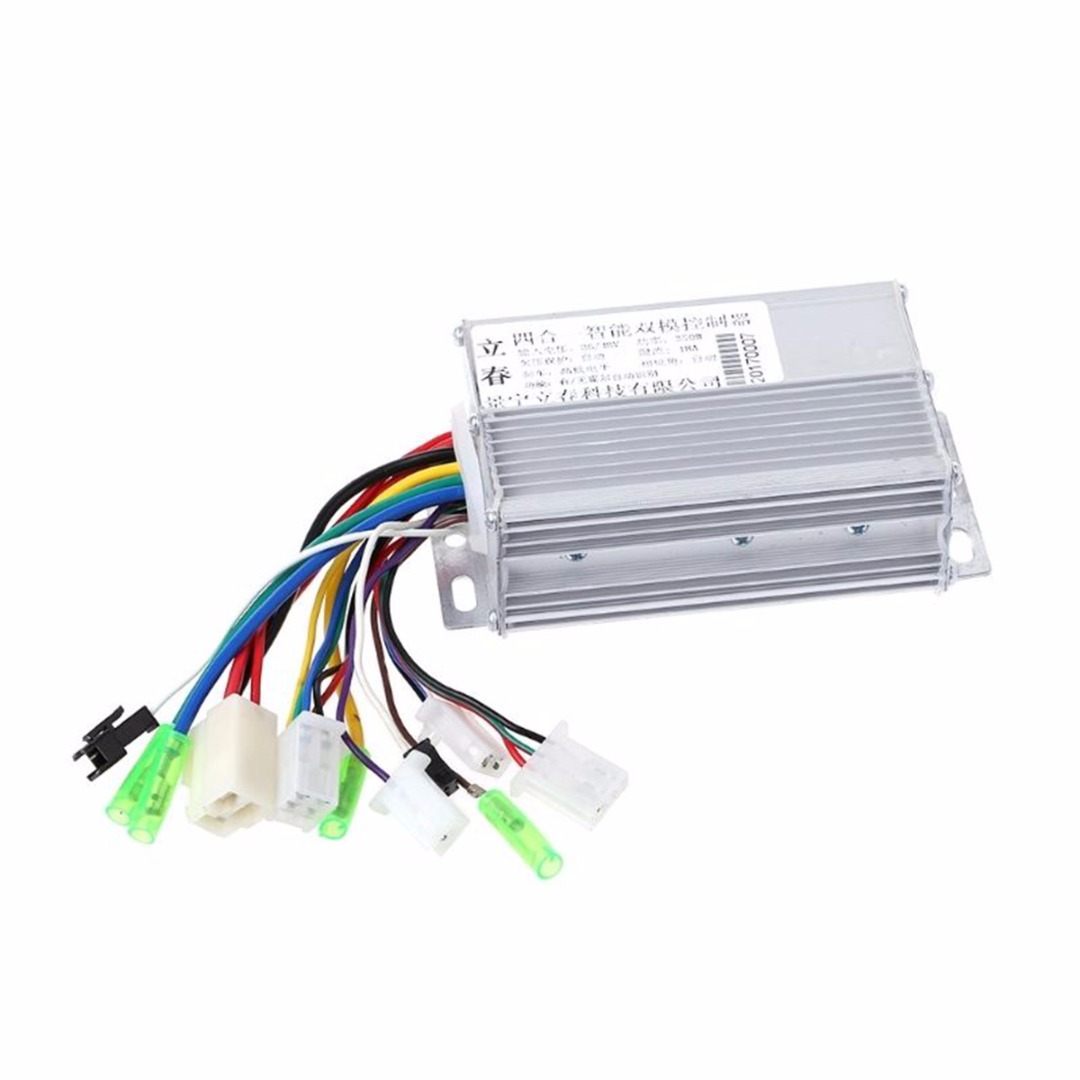 DC 36V/48V 350W Brushless Motor Controller 103x70x35mm Aluminium For Electric Bicycle E-bike Scooter pasion e bike 36v and 48v 350w electric bicycle brushless dc sine wave 25a controller for sondors e bike controllers only usa